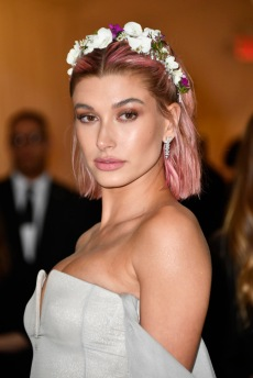 NEW YORK, NY - MAY 07: Hailey Baldwin attends the Heavenly Bodies: Fashion & The Catholic Imagination Costume Institute Gala at The Metropolitan Museum of Art on May 7, 2018 in New York City. (Photo by Frazer Harrison/FilmMagic)